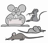 various mouses - vector