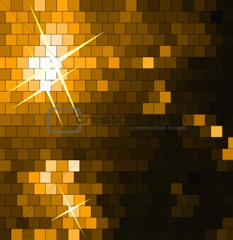 Abstract Square Mosaic gold Background
