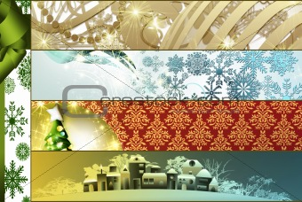 Gold Christmas collage