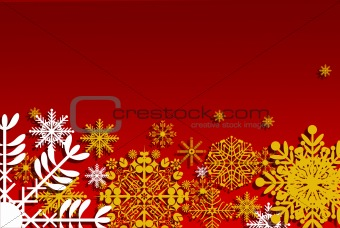 Christmas card with yellow stars