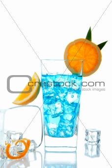 Blue Lagoon tropical cocktail