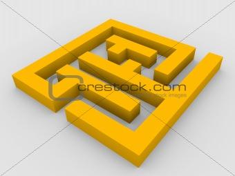 3d render of maze