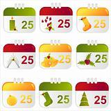 christmas calendar icons