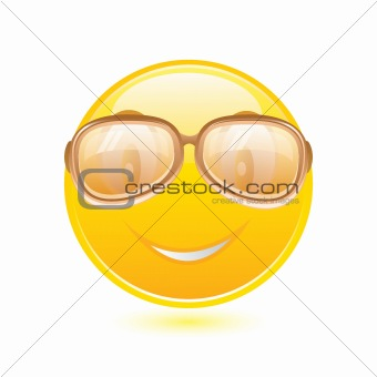 Yellow smiley with glasses