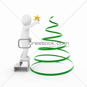 3d man christmas tree
