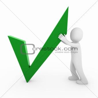 3d man check green