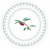 Cherries. Decorative pattern for plate.