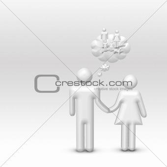 Man Imagines Family