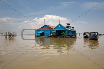 church on Tonle Sap Lake
