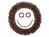face of coffee beans