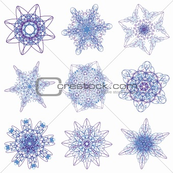 Abstract Christmas snowflake
