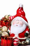 Santa Claus with Christmas decorations