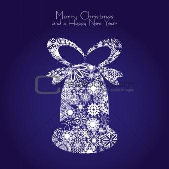 Blue christmas bell