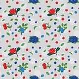 Wild berries. Seamless pattern