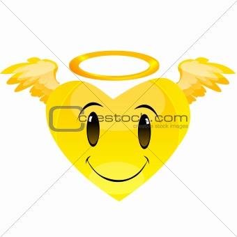 smiley angel heart