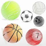 various sports ball