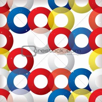 Circular seamless tile red