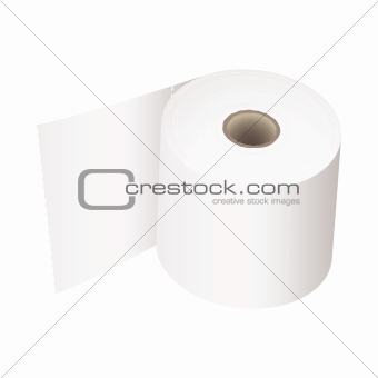 Toilet roll white