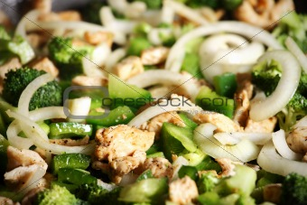 Grilled chicken and broccoli