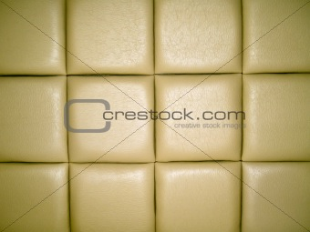 Pale Tan Leather Upholstry Background with a Repetitive pattern