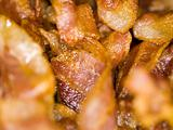 Background Abstract of a Closeup of Crispy Bacon