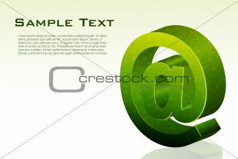 business card with sample text