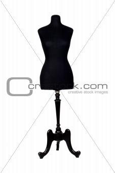 A black mannequin