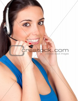 Attractive teleoperator with headphones