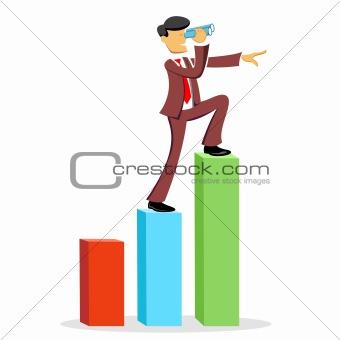 climbing business man
