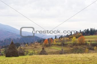 Carpathians mountain in autumn