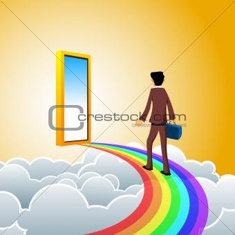 business man on heaven