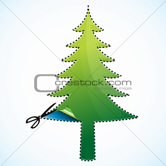 cutting of christmas tree