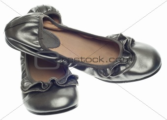Modern Flat Shoes with Zipper Detail