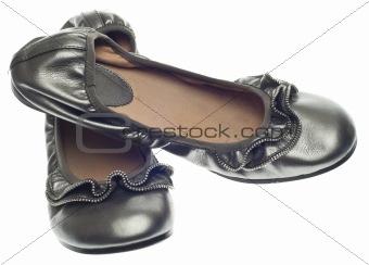 Modern Flat Shoes with Zipper Detail