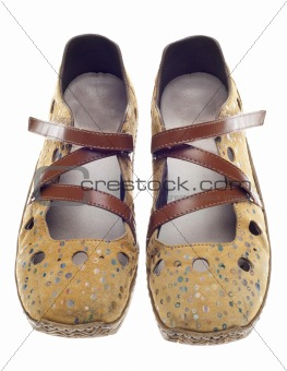 Casual Yellow Shoes with Dots