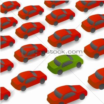 cars on way