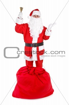 Santa claus with attributes
