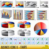 Business icons - charts