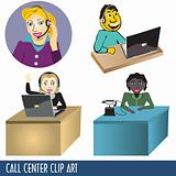 Call Center Clip Art