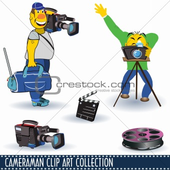 Cameraman Clip Art Collection