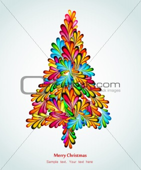 Artistic Tree Christmas. Vector