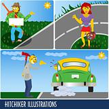 Hitchiker Illustrations