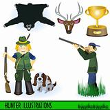 Hunter illustrations
