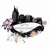 floral city card