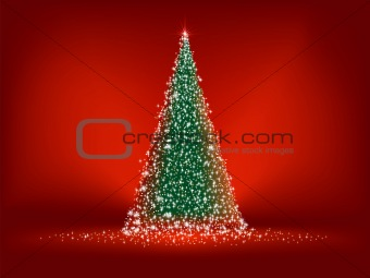 Abstract green christmas tree. EPS 8