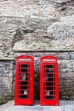 Two telephones