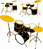 vector set of drums