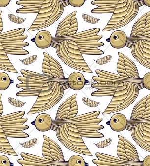 Birds seamless background
