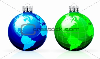 Globe christmas balls