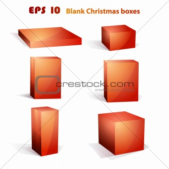 Christmas blank box set | editable vector box set